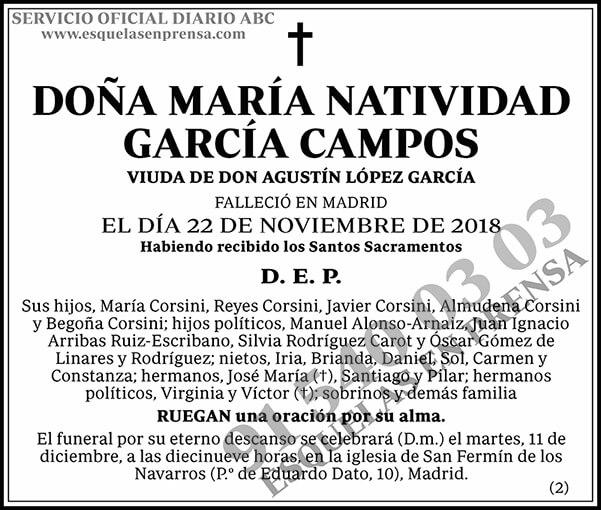 María Natividad García Campos